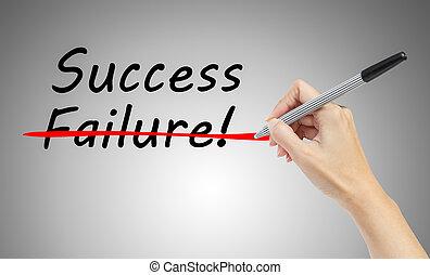 γενική ιδέα , λέξη , επιχείρηση , χέρι , ζωγραφική , 'success'