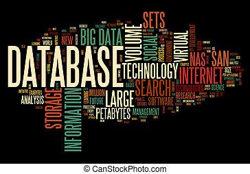 γενική ιδέα , λέξη , σύνεφο , βάση δεδομένων