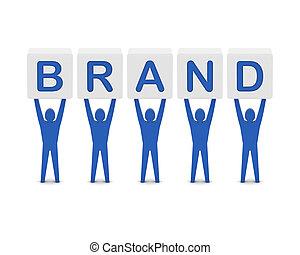 γενική ιδέα , λέξη , illustration., άντρεs , κράτημα , 3d , brand.