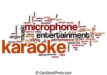 γενική ιδέα , λέξη , karaoke , σύνεφο