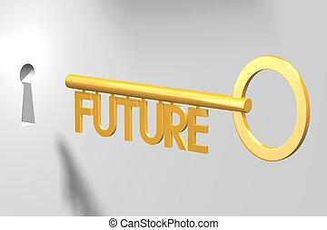 γενική ιδέα , μέλλον , - , κλειδί , 3d