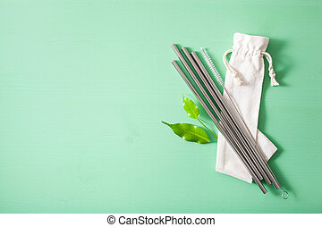 γενική ιδέα , μέταλλο , straw., μηδέν , eco-friendly ,...