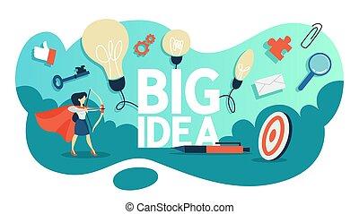 γενική ιδέα , μεγάλος , μυαλό , ιδέα , εικόνα , δημιουργικός