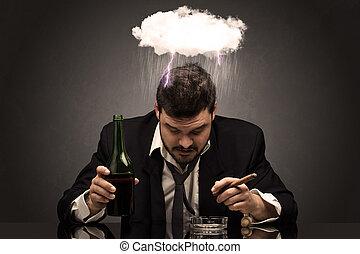γενική ιδέα , μεθυσμένος , σκληρά , ώρα , άντραs , απογοητευμένος , επισκοτίζω
