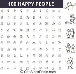 γενική ιδέα , περίγραμμα , άνθρωποι , θέτω , απεικόνιση , εικόνα , μικροβιοφορέας , γραμμή , αναχωρώ , ευτυχισμένος