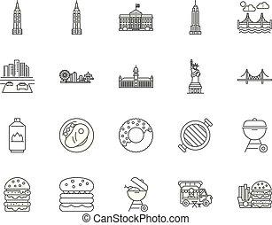 γενική ιδέα , περίγραμμα , θέτω , απεικόνιση , εικόνα , μόρφωση , αμερικανός , μικροβιοφορέας , γραμμή , αναχωρώ