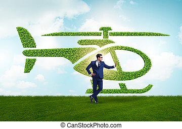 γενική ιδέα , πράσινο , φιλικά , environmentally , όχημα