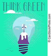 γενική ιδέα , πράσινο , χειμώναs , ιδέα