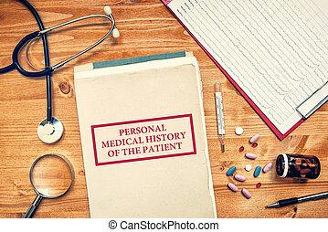 γενική ιδέα , προσωπικό , ιατρικός , ασθενής , healthcare , ιστορία