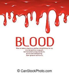 γενική ιδέα , φρίκη , στάξιμο , εικόνα , seamless, μικροβιοφορέας , blood.