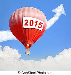 γενική ιδέα , balloon, αέραs , ζεστός , έτος , καινούργιος
