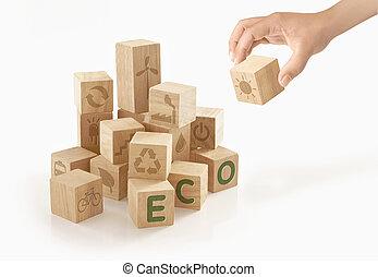 γενική ιδέα , & , eco, απομονωμένος , φόντο. , πράσινο , πηγαίνω