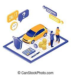 γενική ιδέα , isometric , άμαξα αυτοκίνητο ασφάλεια