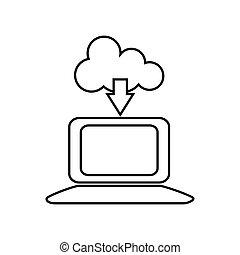 γενική ιδέα , laptop , μικροβιοφορέας , internet