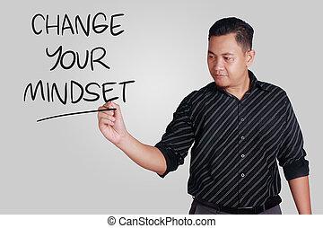 γενική ιδέα , motivational , mindset , αναφέρω , λόγια , δικό σου , αλλαγή