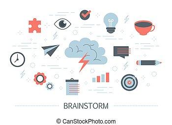 γεννώ , concept., μυαλό , ιδέα , δημιουργικός , καινούργιος , έμπνευση