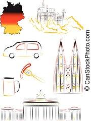 γερμανία , αξιοθέατα , και , σύμβολο