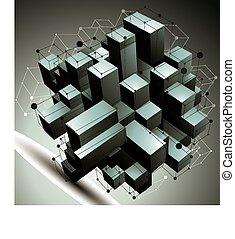 γεωμετρικός , αντικείμενο , αφαιρώ , 3d