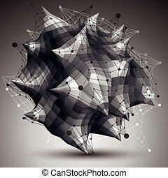 γεωμετρικός , αφαιρώ , 3d , αντικείμενο