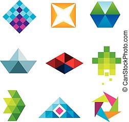γεωμετρικός , τέχνη , πολύγωνο , des , όμορφος