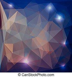 γεωμετρικός , φόντο , με , πολύγωνο