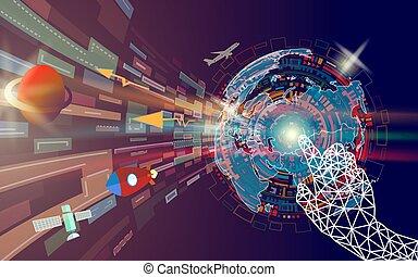 γεωμετρικός , χέρι , αφορών , γραφικός , αφαιρώ , αναφερόμενος σε ψηφία τεχνική ορολογία , οθόνη , με , κόσμοs , map.