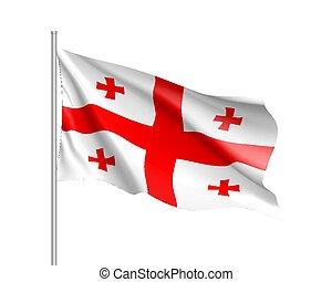 γεωργία , εθνική σημαία , εικόνα , ρεαλιστικός , μικροβιοφορέας