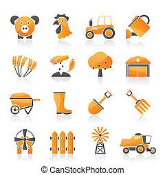 γεωργία , και , καλλιέργεια , απεικόνιση