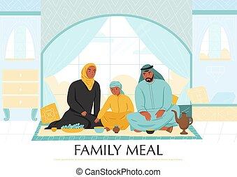 γεύμα , έκθεση , αραβας , οικογένεια