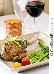 γεύμα , μοσχαρίσιο κρέαs