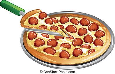 γεύμα , πίτα με τομάτες και τυρί