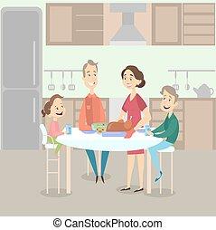 γεύμα , turkey., οικογένεια
