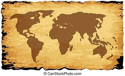 γηραιά ήπειρος , χάρτηs , επάνω , περγαμηνή