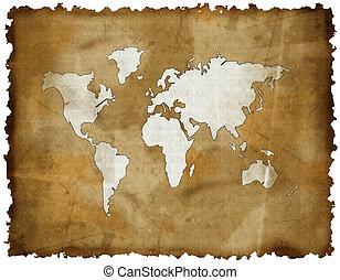 γηραιά ήπειρος , χάρτηs , επάνω , grunge , retro , χαρτί