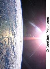 γη , & , ήλιοs