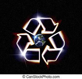 γη , ανακυκλώνω