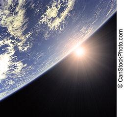 γη , και , ήλιοs