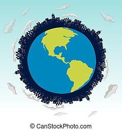 γη , κτίρια , αποταμιεύω , θέμα , κόσμοs