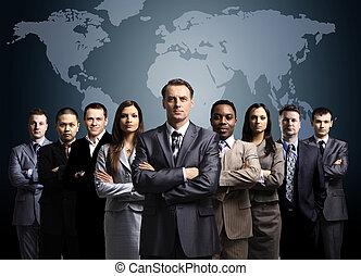 γη , businessmen , ακάθιστος , χάρτηs , αντιμετωπίζω