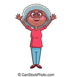 γιαγιά , γεροντότερος , πρόσωπο , γυαλιά