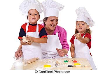 γιαγιά , κατασκευή , βούτημα , μικρόκοσμος