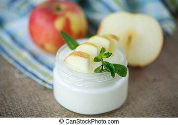 γιαούρτι , μήλο