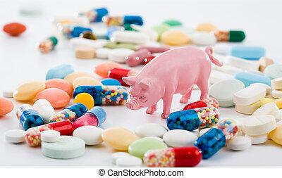 γιατρεία , από , γουρούνι , γρίπη