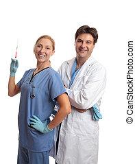 γιατροί , ιατρικός εργάζομαι αρμονικά με