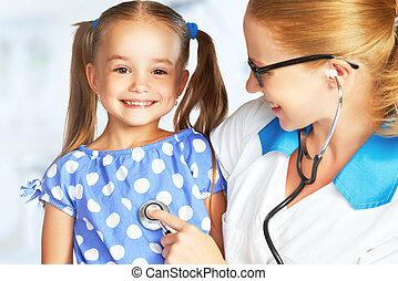 γιατρός , ασθενής , παιδίατρος , παιδί
