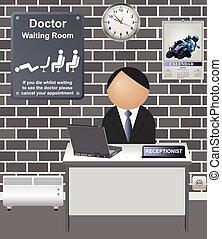 γιατρός , δωμάτιο , κωμικός , αναμονή