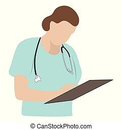 γιατρός , ιατρικός , γράψιμο , clipboard , χειρουργός , ή