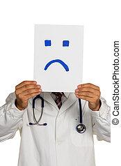 γιατρός , κράτημα , αρνητικός , smiley αντικρύζω , πριν