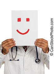 γιατρός , κράτημα , smiley αντικρύζω , πριν