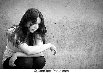 για , ανησυχία , εφηβικής ηλικίας , ατενίζω , προσεκτικός ,...